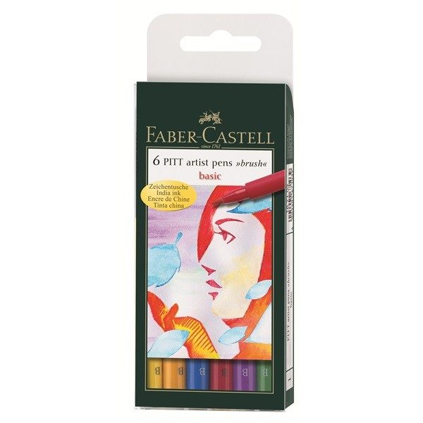 "RETOLADOR FABER CASTELL ARTIST PEN ""BRUSH"" BASIC"