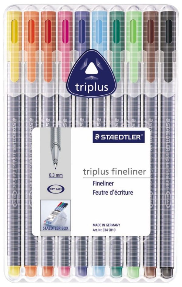 RETOLADORS STAEDTLER TRIPLUS FINELINER 10 UN