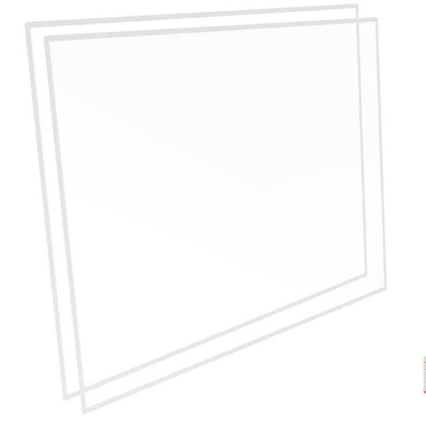 PLAKENE 75 X 105 CM 0,8 MM TRANSPARENT / TRASLUCID