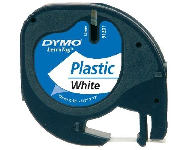 CINTA DYMO 12MM 4M PLASTIC BLANC