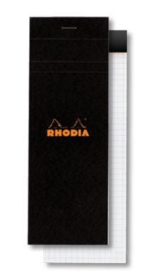 BLOC RHODIA 7,4X21 CM RATLLAT NEGRE