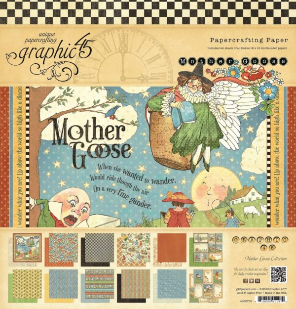 PAPER PAD GRAPHIC 45 30,5 X 30,5 MOTHER GOOSE