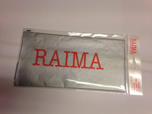 PAPER SEDA RAIMA 75 X 50 PLATA 3 UNITATS