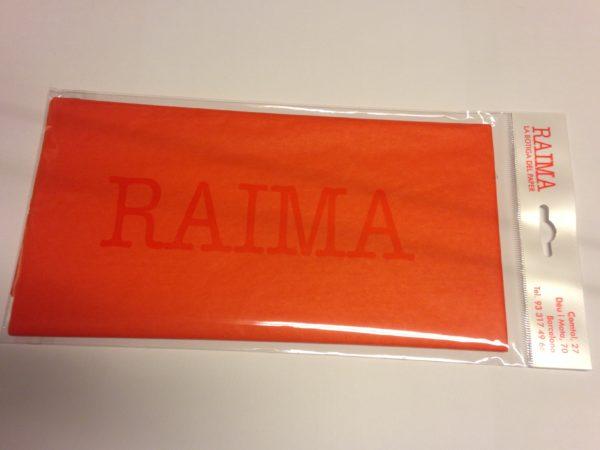 PAPER SEDA RAIMA 75 X 50 TARONJA 5 UNITATS