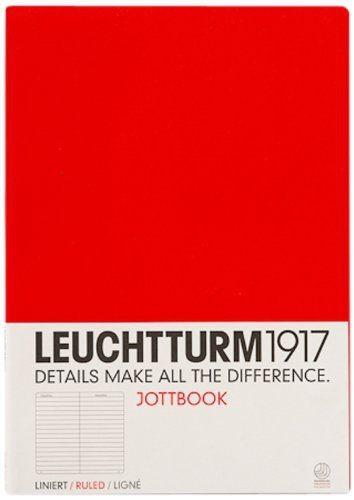 LLIBRE JOTTBOOK LEUCHTTURM1917 A4 TAPA TOVA RATLLADA VERMELL