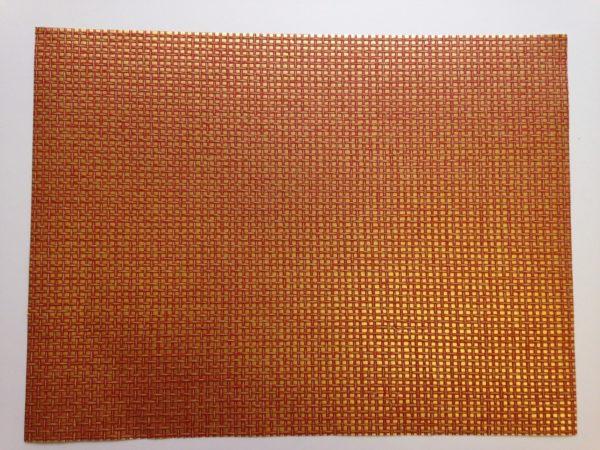 PAPER RAIMA NATURAL 45X60 METALIC GOLD & RED
