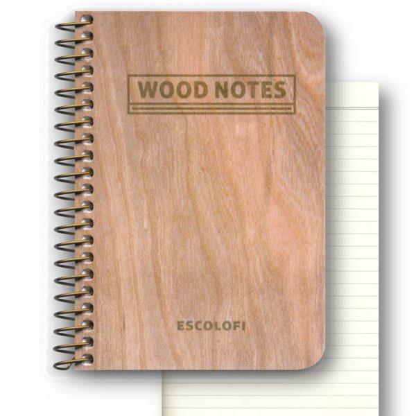 LLIBRETA WOOD NOTES 75*105 ESPIRAL RATLLADA 70PG
