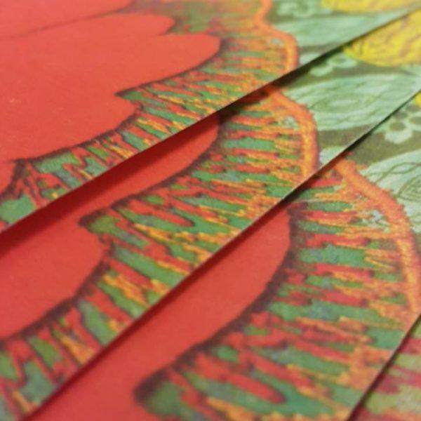 PAPER RECIC 50x70 cm IMPRESIÓ BRODAT FLORS FUC/VRM