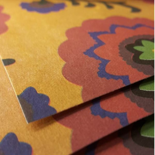PAPER RECIC 50x70 cm IMPRESIÓ FLORS FUC/OCR