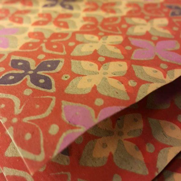 PAPER RECIC 50x70 cm IMPRESIÓ FLOR LYS TAR/MRR