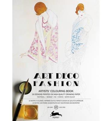LLIBRE ARTISTIC PINTAR ART DECO FASHION 16 FULLS 180 GR
