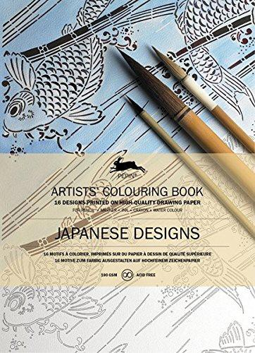 LLIBRE ARTISTIC PINTAR JAPANESE DESIGNS 16 FULLS 180 GR