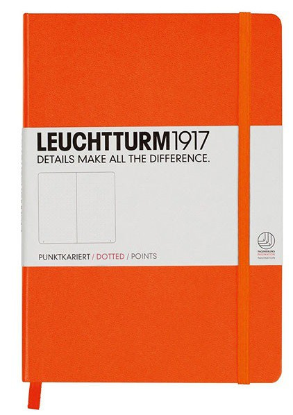 LLIBRE MEDIUM LEUCHTTURM1917 TAPA DURA PUNTS TARONJA