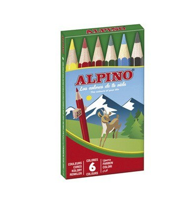LLAPIS ALPINO CARTRO CURT 6UN