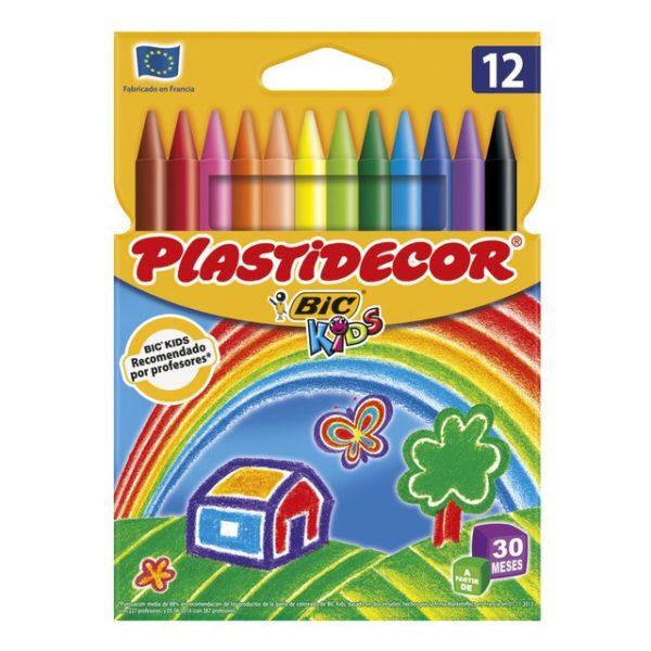PLASTIDECOR 12 COLORS