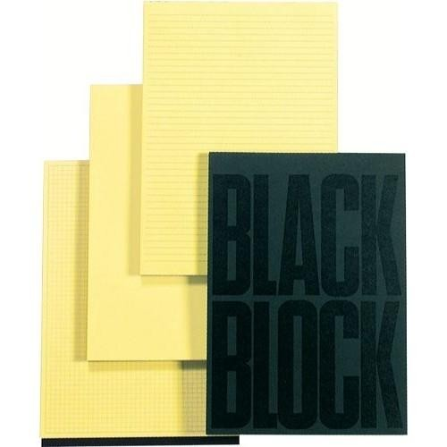 BLOC BLACK BLOCK A4 QUADRICULAT