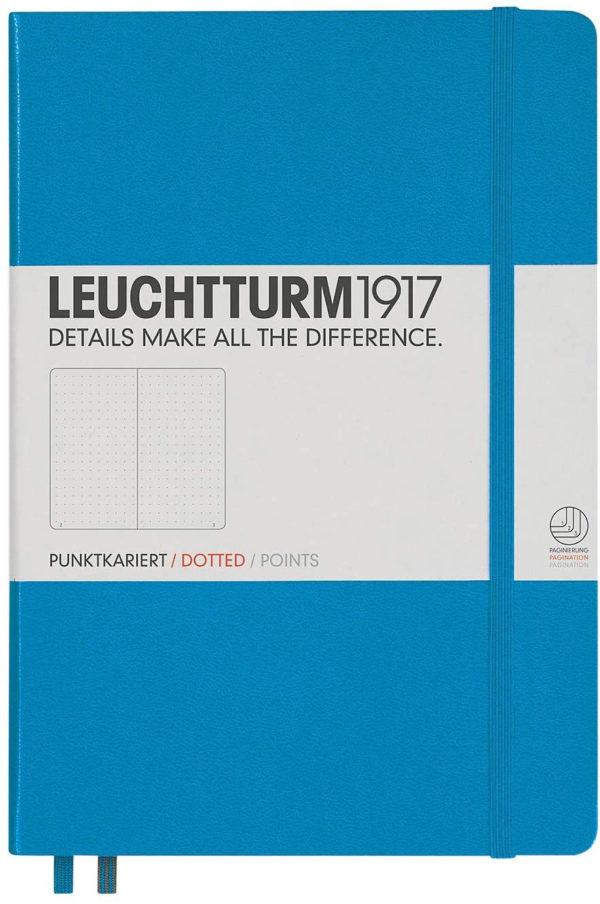 LLIBRETA LEUCHTTURM1917 TAPA DURA A5 PUNTS AZURE