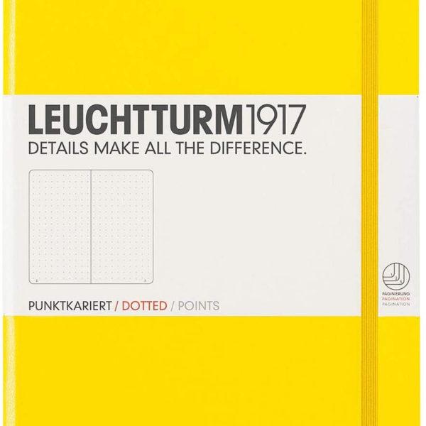LLIBRETA LEUCHTTURM1917 TAPA DURA A5 PUNTS GROC