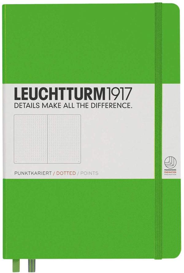 LLIBRETA LEUCHTTURM1917 TAPA DURA A5 PUNTS VERD