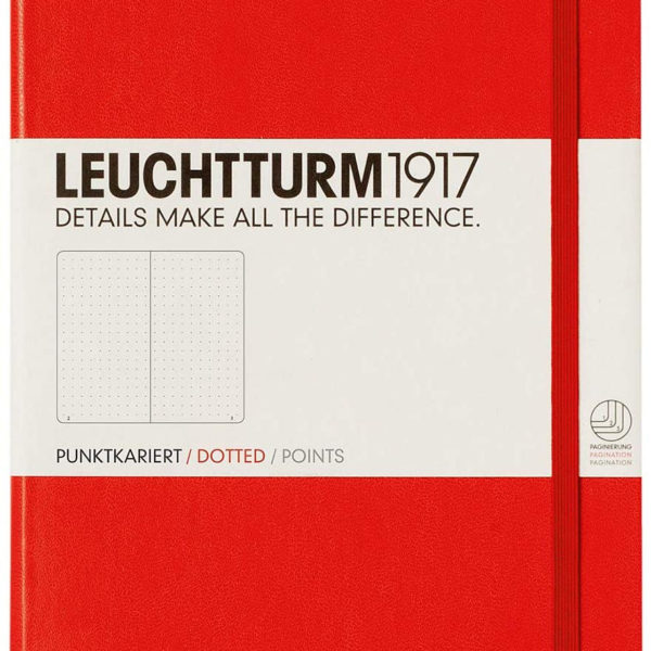 LLIBRETA LEUCHTTURM1917 TAPA DURA A5 PUNTS VERMELL