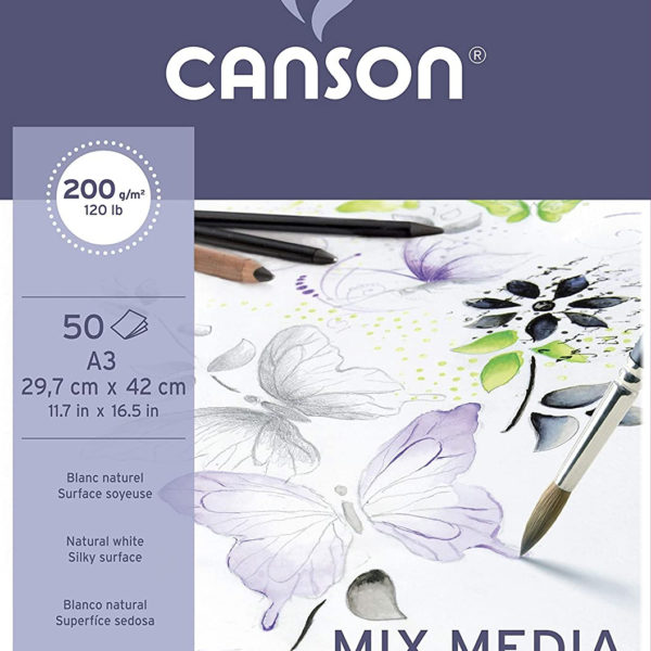 BLOC DE DIBUIX CANSON MIX MEDIA IMAGINE A3 200GR