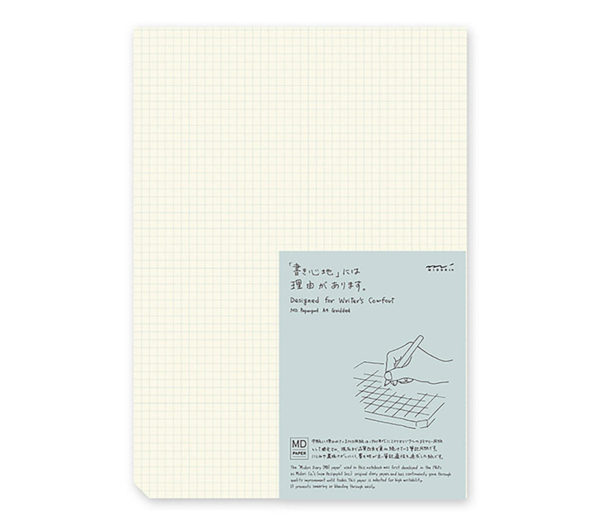 MD Paper Pad A4 Gridded English Caption