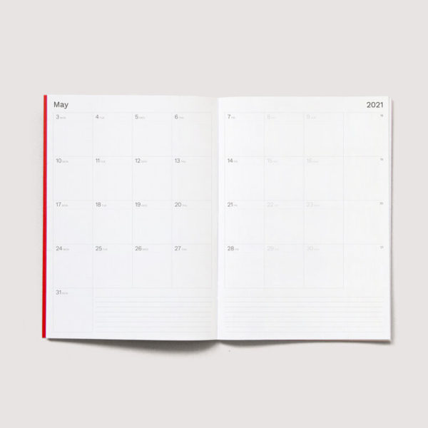 AG MONTHLY PLANNER A4 VRM ** **