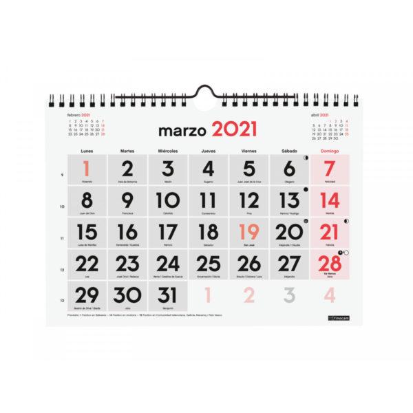 CALENDARI DE PARET NÚMEROS GRANS 2017 (M)