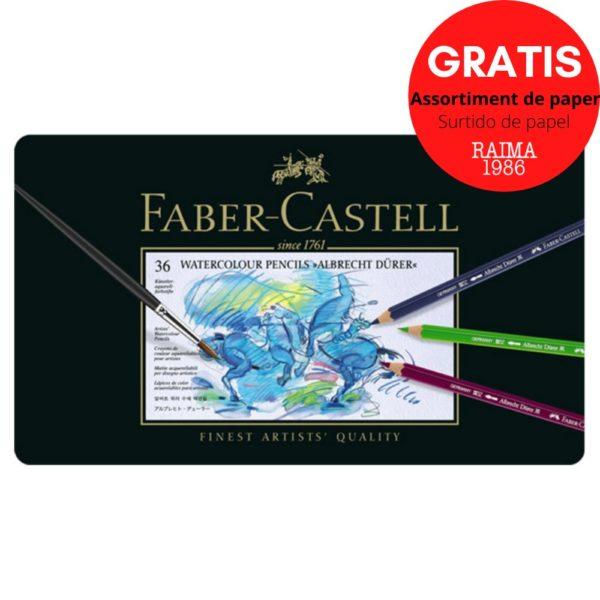 LLAPIS FABER CASTELL ALBRECHT AQUARELA  36 UNITATS