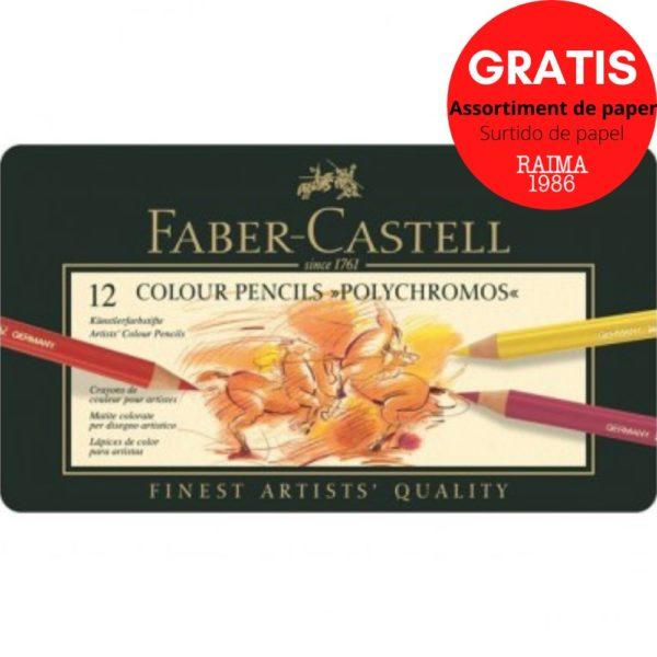 LLAPIS DE COLOR FABER CASTELL POLYCHROMOS (12)