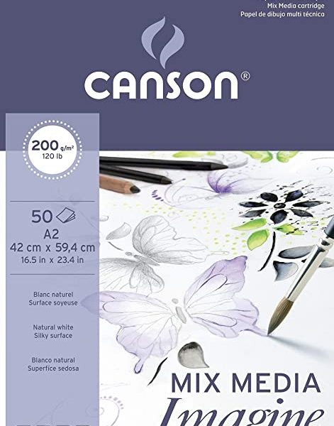 Canson Bloc Imagine A2 50 Hojas 200g.