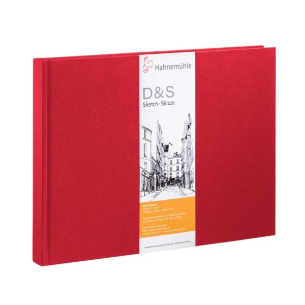 D & S A5 L 80 hojas / 160 páginas 140 g / m2 Rojo