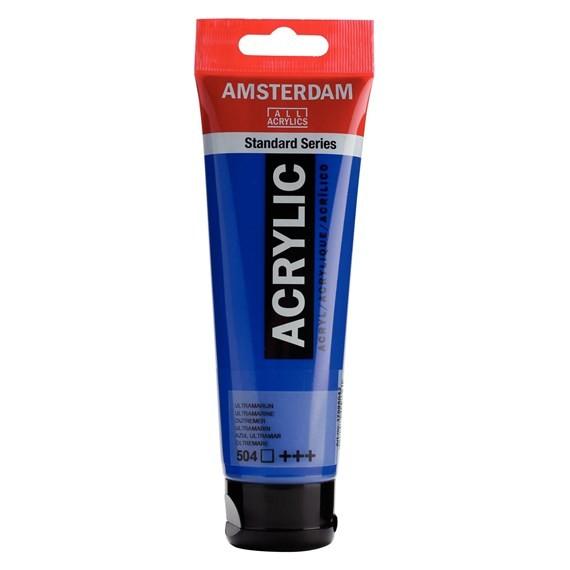 ACRILIC AMSTERDAM 120ML 504 BLU ULTRAMAR
